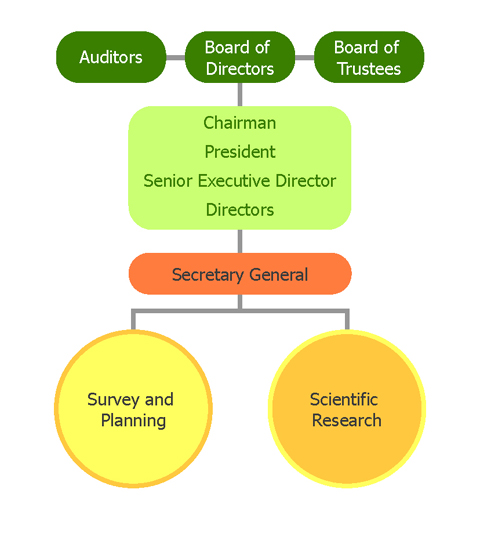 organization chart of GEF